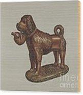 Statuette Of A Dog Wood Print