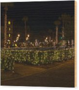 St.augustinelights1 Wood Print by Kenneth Albin