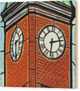 Staunton Clock Tower Landmark Wood Print