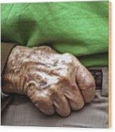 Steadying Hand Wood Print