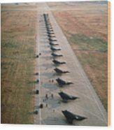 Stealth Fighters 37 Tactical Fighter Wing Wood Print