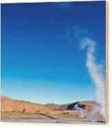 Steam At El Tatio Geysers Wood Print