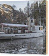 Steam Boat On Loch Katrine Wood Print