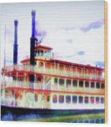 Steam Boat Wood Print