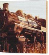 Steam Engine 3716 Wood Print
