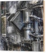 Steam Engine Detail Wood Print