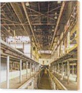 Steam Engine Repair Shop Color Wood Print