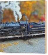 Steam Engine Tilt Shift Wood Print