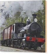 Steam Locomotive 3298 In Cornwall Wood Print