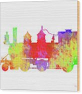 Steam Locomotive Art Wood Print