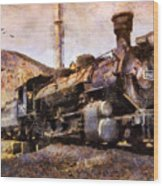 Steam Locomotive Wood Print