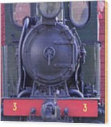 Steam Locomotive Train Wood Print