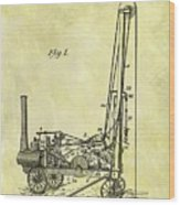 Steam Powered Oil Well Patent Wood Print