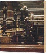 Steam Punk - Diy Typewriter Wood Print