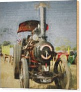 Steam Traction Engine Wood Print