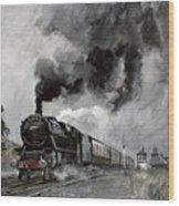 Steam Train At Garsdale - Cumbria Wood Print