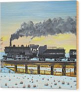Steam Train One From Mike Massee Photo Wood Print