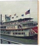 Steamboat Natchez Wood Print