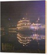 Steamboat Reflections Wood Print