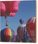 Steamboat Springs Balloons Wood Print