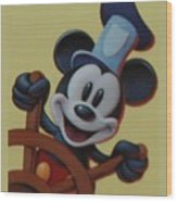 Steamboat Willy Wood Print