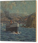 Steamer Leaving Avalon. Catalina Island Wood Print