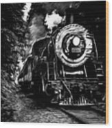Steaming Through The Pass Wood Print