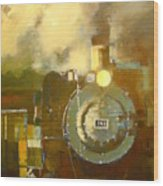Steaming Up Mining Country Wood Print