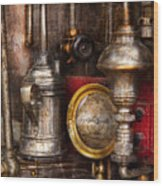 Steampunk - Needs Oil Wood Print by Mike Savad