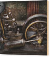 Steampunk - The Contraption Wood Print