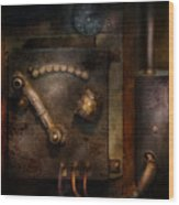 Steampunk - The Control Room  Wood Print