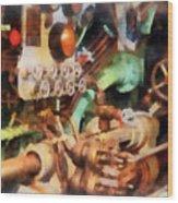 Steampunk - Torpedo Controls Wood Print