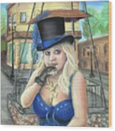 Steampunk Becky Wood Print
