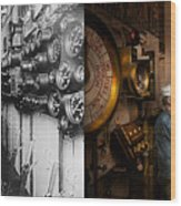 Steampunk - Controls On The Uss Washington 1920 - Side By Side Wood Print