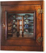 Steampunk - Electrical - The Fuse Panel Wood Print by Mike Savad