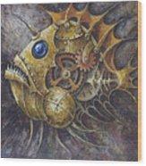 Steampunk Fish A Wood Print