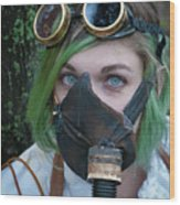 Steampunk Girl Wood Print