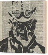 Steampunk Guy Wood Print