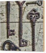 Steampunk - Old Skeleton Keys Wood Print