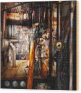 Steampunk - Plumbing - Pipes Wood Print