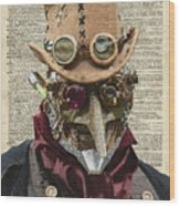 Steampunk Robot Wood Print
