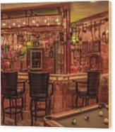 Steampunk Speakeasy Mancave Bar Art Wood Print
