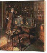Steampunk - The Time Traveler 1920 Wood Print