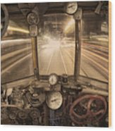 Steampunk Time Machine Wood Print by Keith Kapple