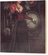 Steampunk Warlock Wood Print