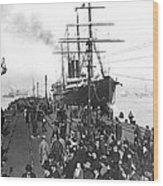 Steamship In Japan Wood Print