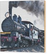 Steamtrain To Carltoncreekhurst L B Wood Print