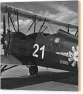 Stearman Biplane Wood Print