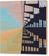 Steel And Clouds At Sunset 7  Wood Print