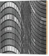 Steel And Glass Curtain Wall Wood Print by Photo by John Crouch